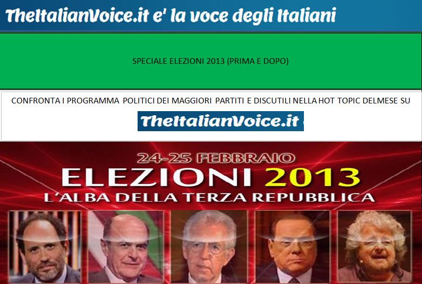 Speciale Elezioni 2013